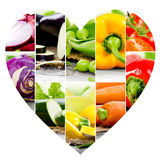Vegetable Heart slices Stock Photography