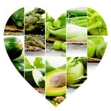 Vegetable Heart slices Royalty Free Stock Photos