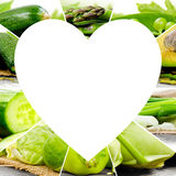 Vegetable Heart slices Royalty Free Stock Images
