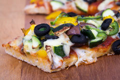Vegetable homemade rustic pizza Stock Images