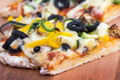Vegetable homemade rustic pizza Stock Image