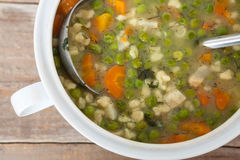 Vegetable homemade soup Royalty Free Stock Photos
