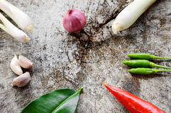 Vegetable hot and spicy ingredient Royalty Free Stock Images