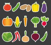 Vegetable icon set. The image of vegetables symbol Stock Photography