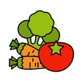 Vegetable icon set Royalty Free Stock Photos