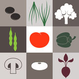 Vegetable. Icon Set Stock Photos
