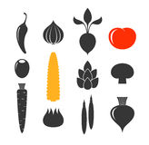 Vegetable. Icon set Royalty Free Stock Photos