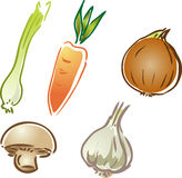 Vegetable icons royalty free illustration