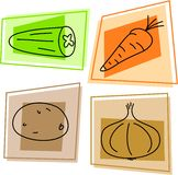 Vegetable icons Royalty Free Stock Images