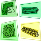 Vegetable icons Royalty Free Stock Photography