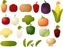 Vegetable icons Royalty Free Stock Photo