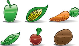 Vegetable Icons Basic Royalty Free Stock Photography