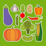 Vegetable Icons Stock Photos