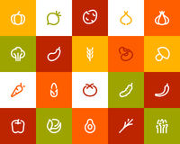 Vegetable icons. Flat style Royalty Free Stock Photos