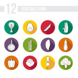 Vegetable Icons Royalty Free Stock Photos