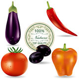 Vegetable icons set Stock Photo