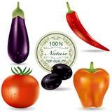 Vegetable icons set Stock Photo