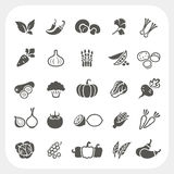 Vegetable icons set Stock Photos