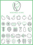 Vegetable Icons set  Royalty Free Stock Photography