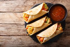Free Vegetable Indian Rolls Are Filled With A Tasty Concoction Of Car Stock Photography - 110010762