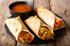 Vegetable Indian Rolls Are Filled With A Tasty Concoction Of Car Royalty Free Stock Photos