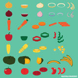 Vegetable Ingredient and Salad. Vector Stock Photo