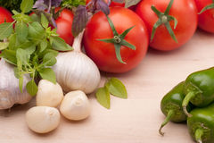 Vegetable ingredients Royalty Free Stock Images