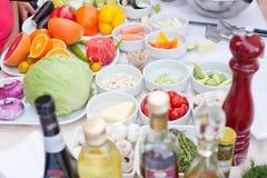 Vegetable ingredients Royalty Free Stock Images