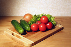 Vegetable ingredients in a kitchen Royalty Free Stock Images