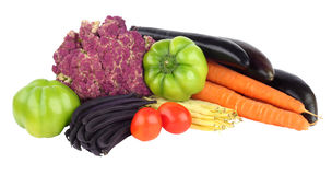 Vegetable isolated. Organic vegetables from the farmer. Stock Photo