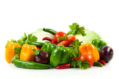 Vegetable on isolated white  background healthy food Stock Photography