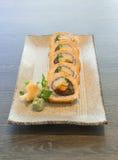 Vegetable Japanese Sushi rolls Royalty Free Stock Photo