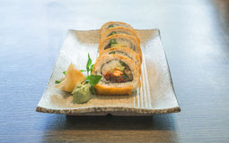Vegetable Japanese Sushi rolls Stock Photography