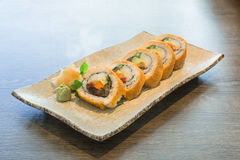 Vegetable Japanese Sushi rolls Stock Images