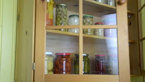 Vegetable jars hand stock video