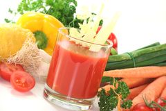 Vegetable juice Stock Photos