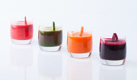 Vegetable juice. (carrot, beet, cucumber, tomato Royalty Free Stock Photos