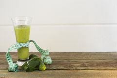 Vegetable juice. Cucumber juice on a white background stock photo