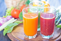 Vegetable juice Royalty Free Stock Photos