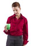 Vegetable Juice. Juicing diet. woman with green vegetable juice Stock Photos