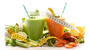 Vegetable juice, smoothie. Health food Royalty Free Stock Photo