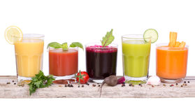 Vegetable juice variety Royalty Free Stock Images
