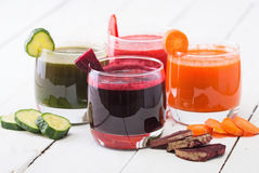 Vegetable. Juice whith carrot, beet, cucumber, tomato Royalty Free Stock Image