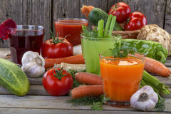 Vegetable juices Stock Images