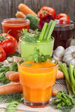 Vegetable juices Royalty Free Stock Photo