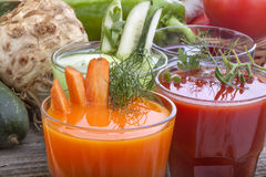 Vegetable juices Stock Image