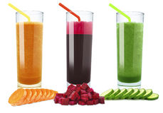 Vegetable juices Royalty Free Stock Photography
