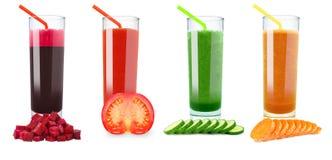 Vegetable juices Stock Photos
