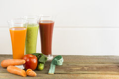 Vegetable juices. Vegetable juice on a white background royalty free stock photos