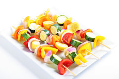 Vegetable kabobs Stock Image